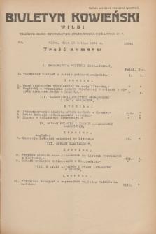 Biuletyn Kowieński Wilbi. 1934, nr 1004 (13 lutego)