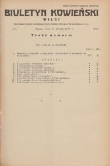 Biuletyn Kowieński Wilbi. 1934, nr 1006 (17 lutego)