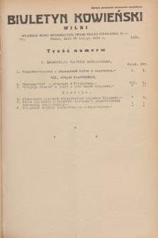 Biuletyn Kowieński Wilbi. 1934, nr 1009 (20 lutego)