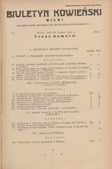 Biuletyn Kowieński Wilbi. 1934, nr 1013 (26 lutego)