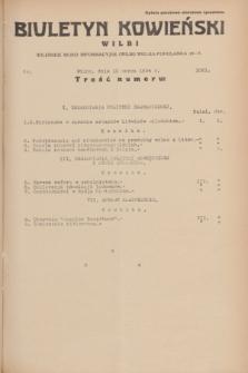 Biuletyn Kowieński Wilbi. 1934, nr 1021 (10 marca)