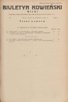 Biuletyn Kowieński Wilbi. 1934, nr 1043 (14 kwietnia)