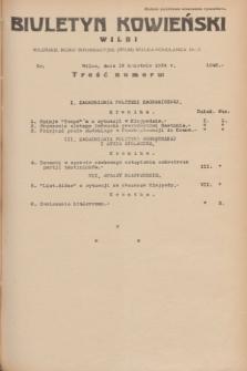 Biuletyn Kowieński Wilbi. 1934, nr 1046 (19 kwietnia)