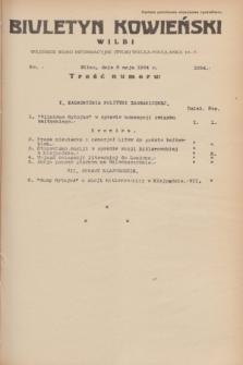 Biuletyn Kowieński Wilbi. 1934, nr 1054 (2 maja)