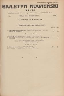 Biuletyn Kowieński Wilbi. 1934, nr 1058 (9 maja)