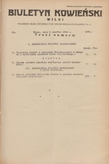 Biuletyn Kowieński Wilbi. 1934, nr 1070 (5 czerwca)