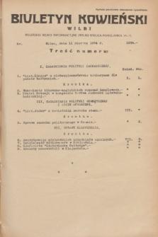 Biuletyn Kowieński Wilbi. 1934, nr 1074 (11 czerwca)