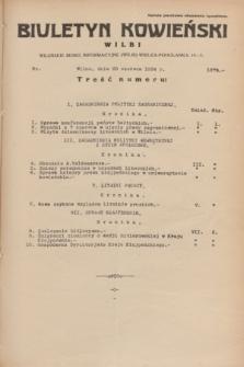 Biuletyn Kowieński Wilbi. 1934, nr 1079 (20 czerwca)