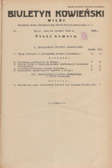 Biuletyn Kowieński Wilbi. 1934, nr 1080 (21 czerwca)