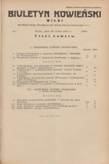 Biuletyn Kowieński Wilbi. 1934, nr 1099 (20 lipca)