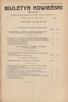 Biuletyn Kowieński Wilbi. 1934, nr 1101 (23 lipca)