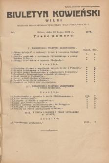 Biuletyn Kowieński Wilbi. 1934, nr 1104 (26 lipca)
