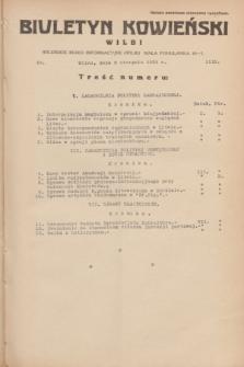 Biuletyn Kowieński Wilbi. 1934, nr 1112 (8 sierpnia)