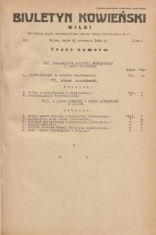Biuletyn Kowieński Wilbi. 1934, nr 1114 (11 sierpnia)