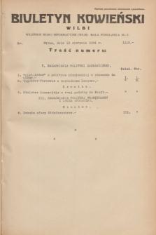 Biuletyn Kowieński Wilbi. 1934, nr 1115 (13 sierpnia)