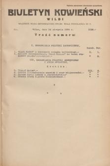 Biuletyn Kowieński Wilbi. 1934, nr 1116 (16 sierpnia)