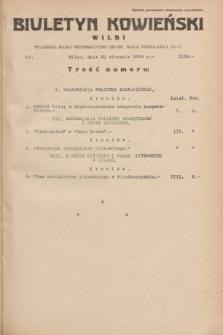 Biuletyn Kowieński Wilbi. 1934, nr 1118 (20 sierpnia)
