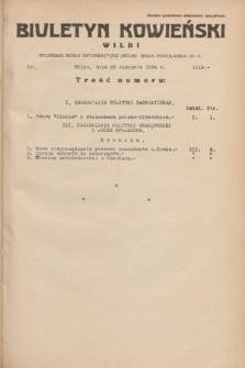 Biuletyn Kowieński Wilbi. 1934, nr 1119 (25 sierpnia)