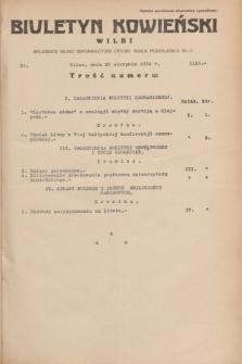 Biuletyn Kowieński Wilbi. 1934, nr 1121 (25 sierpnia)