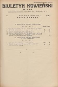 Biuletyn Kowieński Wilbi. 1934, nr 1124 (29 sierpnia)