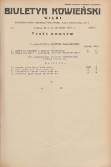Biuletyn Kowieński Wilbi. 1934, nr 1125 (30 sierpnia)