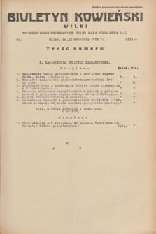 Biuletyn Kowieński Wilbi. 1934, nr 1131 (13 września)