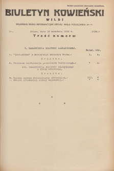 Biuletyn Kowieński Wilbi. 1934, nr 1134 (19 września)