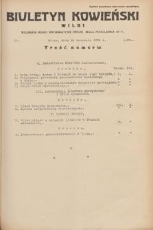 Biuletyn Kowieński Wilbi. 1934, nr 1135 (21 września)