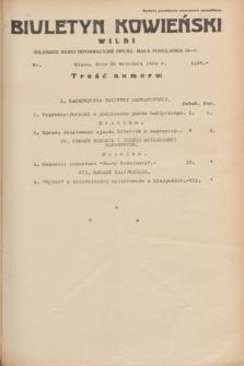 Biuletyn Kowieński Wilbi. 1934, nr 1136 (22 września)