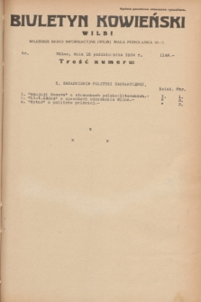 Biuletyn Kowieński Wilbi. 1934, nr 1148 (12 października)