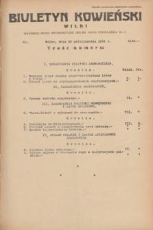 Biuletyn Kowieński Wilbi. 1934, nr 1155 (22 października)