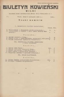 Biuletyn Kowieński Wilbi. 1934, nr 1163 (6 listopada)