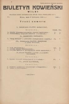 Biuletyn Kowieński Wilbi. 1934, nr 1165 (8 listopada)