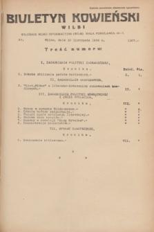 Biuletyn Kowieński Wilbi. 1934, nr 1167 (10 listopada)