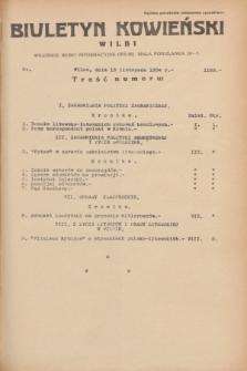 Biuletyn Kowieński Wilbi. 1934, nr 1169 (13 listopada)