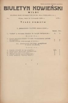 Biuletyn Kowieński Wilbi. 1934, nr 1172 (19 listopada)