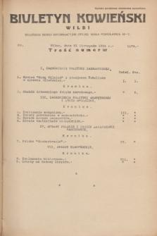 Biuletyn Kowieński Wilbi. 1934, nr 1174 (21 listopada)