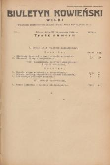 Biuletyn Kowieński Wilbi. 1934, nr 1175 (22 listopada)
