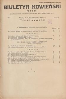 Biuletyn Kowieński Wilbi. 1934, nr 1177 (24 listopada)