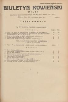 Biuletyn Kowieński Wilbi. 1934, nr 1181 (30 listopada)