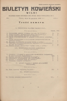 Biuletyn Kowieński Wilbi. 1934, nr 1191 (24 grudnia)
