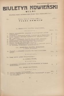 Biuletyn Kowieński Wilbi. 1935, nr 1221 (11 lutego)