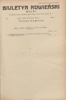 Biuletyn Kowieński Wilbi. 1935, nr 1222 (13 lutego)