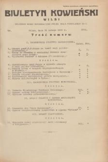 Biuletyn Kowieński Wilbi. 1935, nr 1224 (15 lutego)