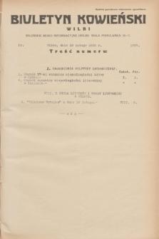 Biuletyn Kowieński Wilbi. 1935, nr 1227 (19 lutego)