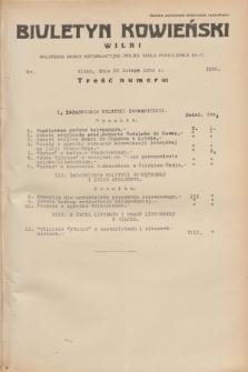 Biuletyn Kowieński Wilbi. 1935, nr 1230 (22 lutego)