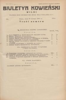 Biuletyn Kowieński Wilbi. 1935, nr 1234 (27 lutego)