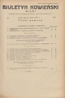 Biuletyn Kowieński Wilbi. 1935, nr 1243 (11 marca)