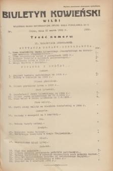 Biuletyn Kowieński Wilbi. 1935, nr 1250 (21 marca)