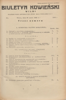 Biuletyn Kowieński Wilbi. 1935, nr 1253 (25 marca)